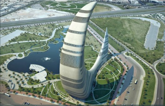 Crescent Moon Tower Dubai 1